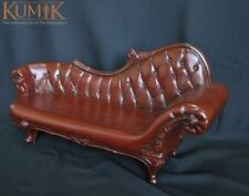 "1/6 Furniture Brown Plastic Armchair Couch Sofa W/Carved leg For 12"" Figure"