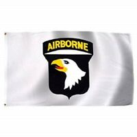 Airborne WINGS 3/'x5/' White Polyester Flag//Banner #76018