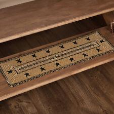 "VHC Brands Primitive 8.5""x27"" Stars Border Stair Tread Tan Kettle Floor Decor"