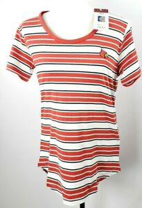 Louisville Cardinals Womens T-Shirt L Tailored Fit Red White Stripes NCAA NWT