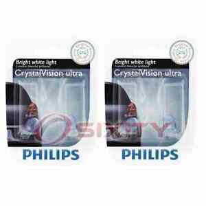 2 pc Philips License Plate Light Bulbs for Saturn Relay SC1 SC2 SL SL1 SL2 mn