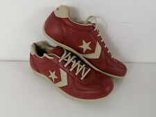 Converse One Star Athletic Shoes Leather Burgundy And Cream size 9