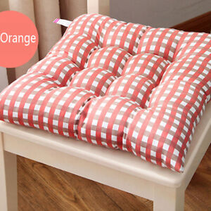 38*38cm Chair Cushion Pad Thick Seat Patio Car Office Home Tie-on Non-Slip Mat ^