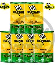 OLIO/Bardahl Technos/XFS 5W40 ACEA C3  API SN 6 Litri Olio motore auto 5w40 AUTO