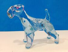 Airedale Terrier figurine Dog blown glass handmade miniature from Russia