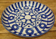 "Dansk Arabesque Philippines Blue White Deep Round Serving Platter 13"" Abstract"