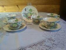 Set Of 5 Royal Doulton Tea Cups & Saucers The Kirkwood Flowers & Fruit England