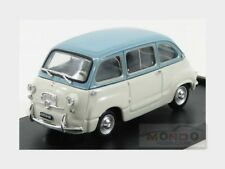 Fiat 600 D Multipla 1960 Light Grey Blue BRUMM 1:43 R333-04
