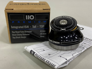 Cane Creek 110 Series Tall Cover Top Integrated Headset IS41/28.6/H15 Black