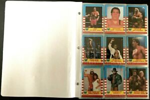 1987 O-PEE-CHEE WWF WRESTLING COMPLETE BASE SET OF 75 VERY RARE