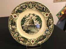 """Vintage 1950s CAPSCO The Capitol, Washington, D.C. Souvenir Plate 11"""""""
