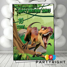Personalised Scary Dinosaur Birthday Card A5 Large - Any Name And Age