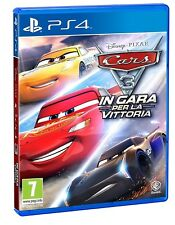 VIDEOGIOCO CARS 3 PS4 GIOCO DISNEY PLAY STATION 4 ITALIANO PRO SPORT CAR PROMO