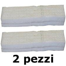 2 pz Spugna Fibra Ceramica Idrofila Lana di Vetro Biocamini Camini a Bioetanolo