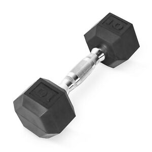 CAP Barbell Coated Hex Dumbbell, Single 10 Hex free cast iron kettlebell bowflex