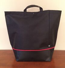 Lululemon Holiday Edition Tote Bag Large Black Shopping Grocery Reusable Sack