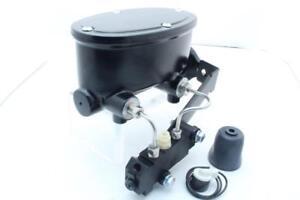 """1.125"""" Bore Black Aluminum Oval Tandem Master Cylinder Kit for Disc Disc"""