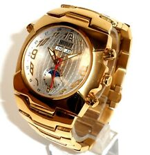 NICOLET $500 GOLD MULTI-FUNCTION DAY/DATE/MONTH/24R. WORLD DIAL MOON PHASE WATCH