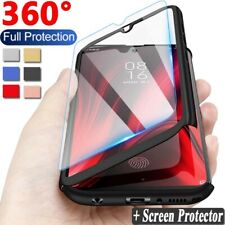 For Xiaomi Redmi Note 9S 9 8 7 6 Pro 9A 8A 360° Full Cover Case + Tempered Glass