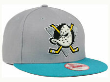 New Era Anaheim Mighty Ducks The Letter Man Snapback Hat Gray Teal 9Fifty