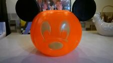 "Vintage Mickey Mouse Halloween Pumpkin Trick or Treat disney Large .W 12""-H 9"""