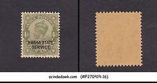 NABHA STATE - 1942 4a KGV SERVICE SG#O49 - 1V OVPT MNH