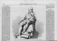 1864 Antique Print  - STATUE John Hunter Henry Weeks Royal Academy  (186)