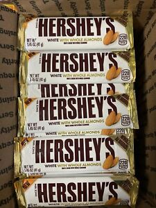 72 Hershey White Chocolate With Whole Almonds Bars
