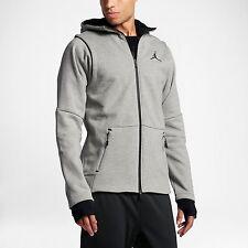 Nike Mens AIR JORDAN SHIELD FULL-ZIP Hoodie Dk Gry/Blk 809486-063 Sz SMALL
