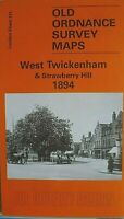 Old Ordnance Survey Maps West Twickenham Strawberry Hill London 1894 Godfrey Ed