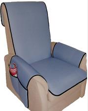 Sesselschoner  Schoner  Sesselauflage  graublau  rutschfeste Rückseite