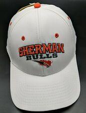 SHERMAN BULLS white adjustable cap / hat