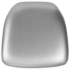 Hard Silver Vinyl Chiavari Chair Seat Cushion For Resin Chiavari Chairs