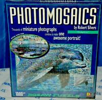 """PHOTOMOSAICS ROBERT SILVERS 1000 PIECE PUZZLE DOLPHIN 27"""" x 20""""  W/POSTER NEW"""