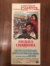 LOCANDINA,S16 Sierra Charriba Peckinpah,Major Dundee,Charlton Heston,Western