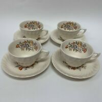 Vintage Clifton by Royal Cups and Saucers Ivory Floral Swirl Rim Lot of 8