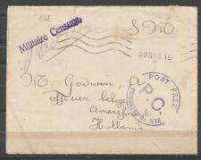 PORTVRIJ S.M.COUVERT 22 DEC 1915 ENGELAND - AMERSFOORT, 'MIL. CENSUUR  ZB687