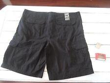 Mens Twill Short Marc Ecko 46 BLACK 100% Cotton Cargo Shorts + Belt Buckle NWT'S