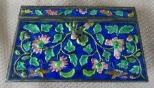Beautiful Floral Enamel Chinese Hinged Cloisonne Box