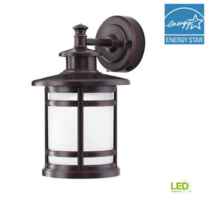 Oil-Rubbed Bronze Motion Sensor Outdoor Integrated LED Wall Lantern Sconce/HDC
