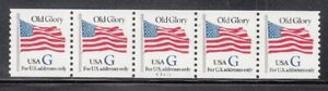 """USA PNC5 SC# 2890 BLUE """"G"""" - OLD GLORY (32c) WATER ACTIVATED MNH PL# A5417"""
