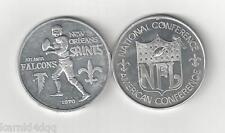 Vintage 1970 NEW ORLEANS SAINTS ATLANTA FALCONS PROGRAM FOOTBALL COIN TOKEN NFL