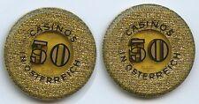 M437 - Spielmarke Casinos in Österreich 50 Schilling Kunststoff Wertmarke
