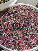 TOURMALINE MIX 2-7mm tumbled 1/4 lb bulk stones xmini green blue pink 115g