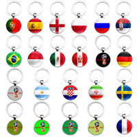 World Cup Country Flag Key Chains Football Soccer Keychain Keyring Souvenir Gift