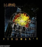 DEF LEPPARD cd cvr PYROMANIA Official Vintage Style SHIRT SMALL new