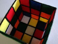 "RUBIK'S CUBE TISSUE BOX COVER & COASTERS WITH HOLDER ""THE BIG BANG THEORY"" RUBIX"