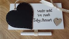 Countdown to birth mum to be sign BABY SHOWER gift chalkboard personalised