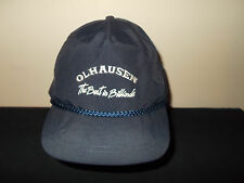 VTG-1990s Olhausen Billiards Pool Tables rope 8 ball snapback hat sku19