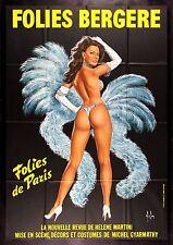 FOLIES BERGERE CineMasterpieces DANCING GIRL PARIS FRANCE POSTER SHOWGIRL BLUE